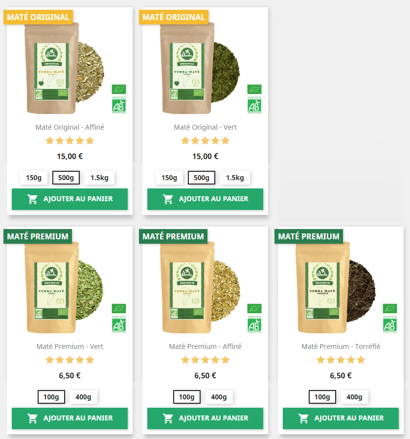 Maté Original vs Maté Premium
